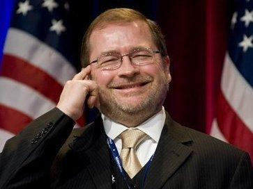 In this Feb. 19, 2010 file photo, Americans for Tax Reform President Grover Norquist jokes around as he is introduced prior to addressing the Conservative Political Action Conference (CPAC) in Washington.