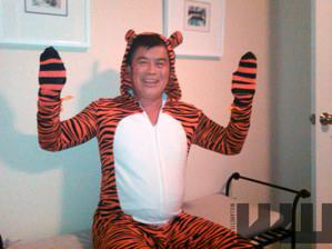 In this Oct. 2, 2010 file photo provided by the Willamette Week newspaper, Rep. David Wu wears a tiger costume in Portland, Ore.
