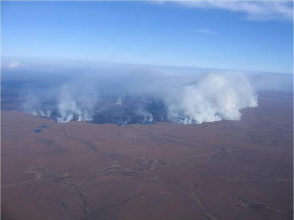 Hard-won carbon going up in smoke: the 2007 Anaktuvuk River Fire, North Slope, Alaska. Source: Alaska Fire Service