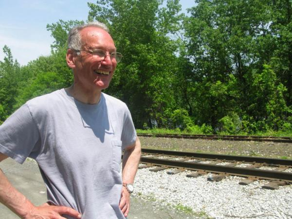 "<strong><a href=""http://www.archermayor.com/index.htm"">Archer Mayor</a></strong> is the author of nearly 25 Joe Gunther detective novels. In <em>Occam's Razor</em>, he sets a murder scene on these Brattleboro train tracks."
