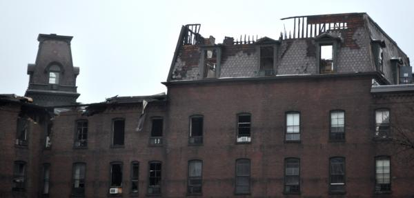 Brooks House, a historic building that was once a hotel in downtown Brattleboro, was badly damaged by a fire in April.