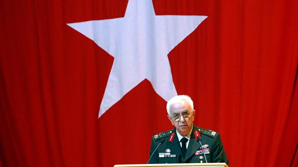 Turkish Chief of Staff General Isik Kosaner during a military ceremony in Ankara on Aug. 28, 2010. Kosaner stepped down on July 29, and the entire military command has resigned in a dispute with the government.
