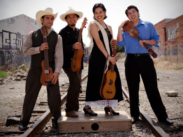 The Los Angeles band Cambalache specializes in <em>son jarocho</em>, a style from Mexico's Gulf Coast.