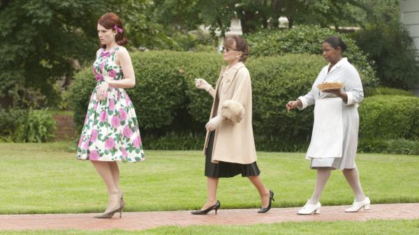 From left: Bryce Dallas Howard, Sissy Spacek and Octavia Spencer star in <em>The Help</em>, based on a novel by Kathryn Stockett.