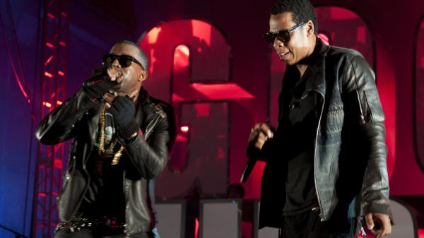 Kanye West and Jay-Z's highly anticipated collaboration made its debut Tuesday on iTunes.