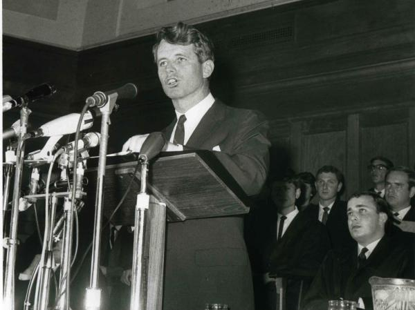 "Many historians consider Kennedy's ""Ripple of Hope"" speech, which he delivered at the University of Cape Town on June 6, 1966, to be his greatest speech."