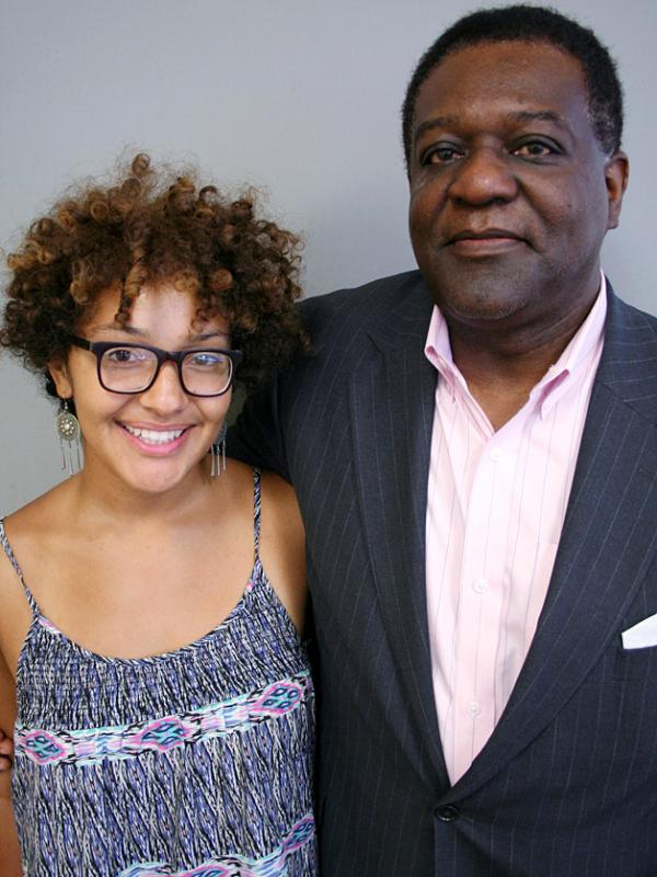 George Robinson and his daughter, Katie, at a recent visit to StoryCorps in Edina, Minn.
