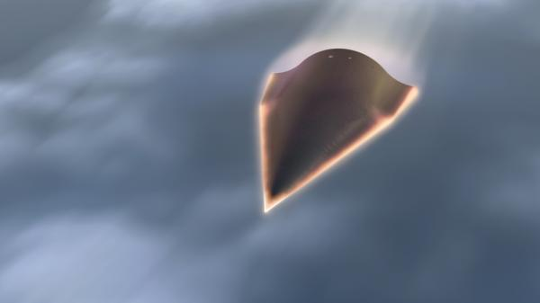 This US Defense Advanced Research Projects Agency(DARPA) artists rendering shows the Falcon Hypersonic Technology Vehicle 2 (HTV-2).