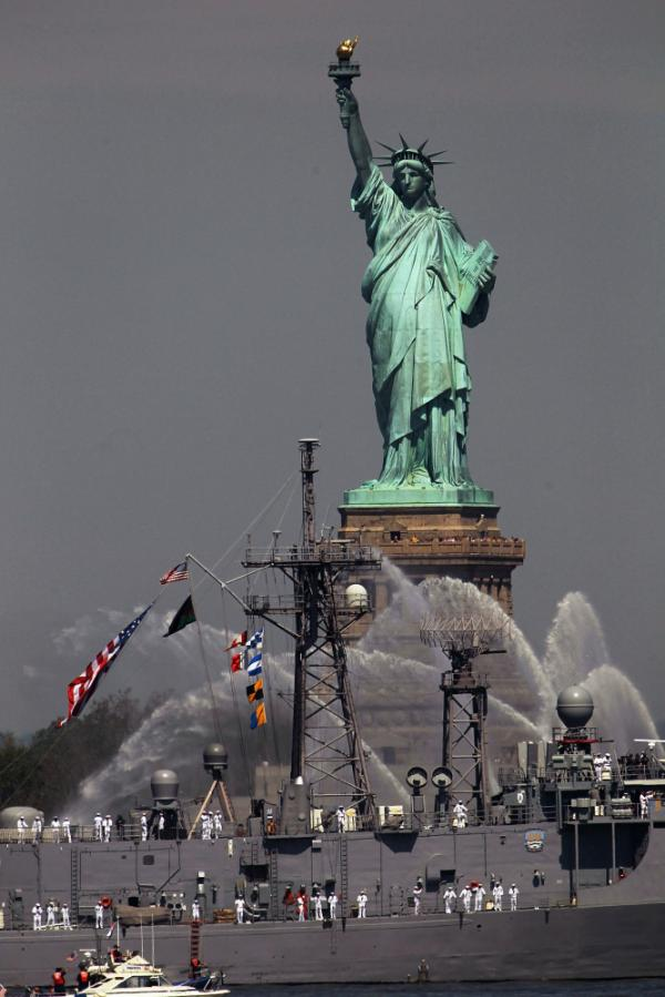 Seen during Fleet Week in May 2011,the Statue of Liberty is scheduled to close for a year of repairs, beginning in October.