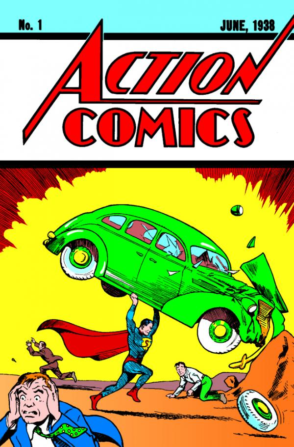 <em>Action Comics #1</em>, published on April 18, 1938, featured the first appearance of Jerry Siegel and Joe Shuster's Superman.