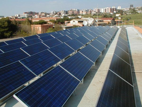 Evergreen Solar has filed for Chapter 11 bankruptcy relief, hoping to reorganize its debt and continue as a smaller company. Here, its panels are seen on a rooftop near Rome.