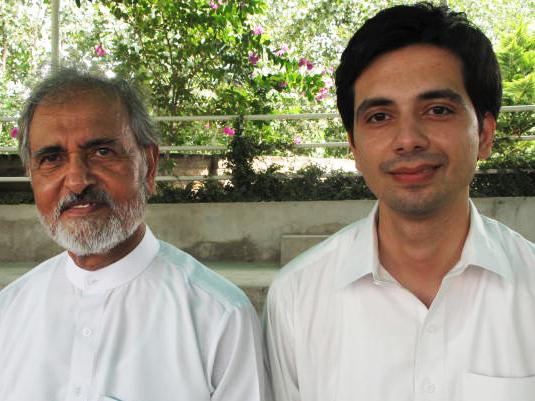 Mumtaz Ali (left) established the hospital in response to the dying wish of his  wife, Umrana Mumtaz, who wanted to bring badly needed medical services to Pakistan's  rural poor. Dr. Qasim Nasruddin (right) joined the hospital  when it opened three years ago with a small staff that treats more than 120  patients a day.