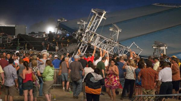 The stage that collapsed under high winds at the Indiana Stage Fair on August 13 killed five people and injured more that 40. The disaster has prompted inquiries into who is responsible for the integrity of temporary stages.