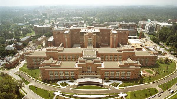 A new study finds that when applying for scientific research grants from the National Institutes of Health, white researchers succeeded 25 percent of the time, while blacks about 15 percent of the time. Above, the Mark O. Hatfield Clinical Research Center at the NIH Campus in Bethesda, Md.