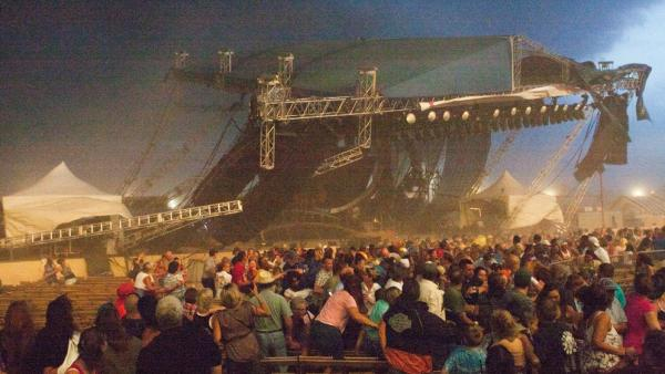 Aug. 13, 2011: A stage collapses at the Indiana State Fair in Indianapolis. Seven people have died from the injuries they received.