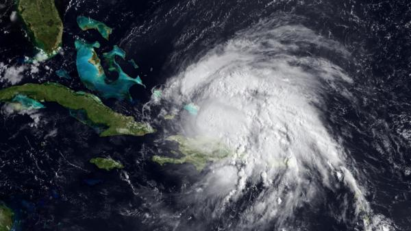 Here she comes. A National Oceanic and Atmospheric Administration satellite photo of Hurricane Irene, taken Tuesday (Aug. 23, 2011). Cuba and Florida are to the left.