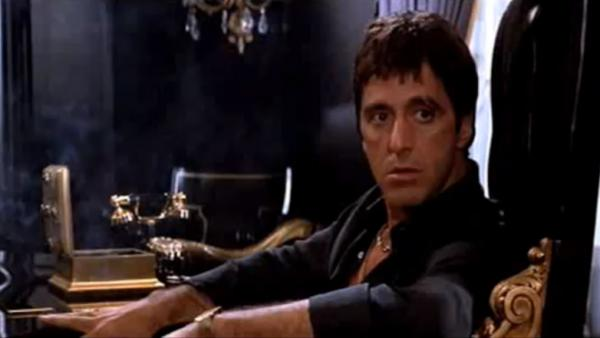 "Critic John Powers says Al Pacino, who played Antonio Montana in the 1983 gangster film <em>Scarface</em>, gave a ""performance the size of a Caribbean cruise ship."""