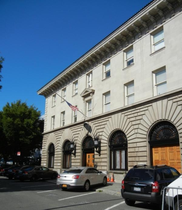 "The one-time ""Fort Apache,"" home of the 41st Precinct of the NYPD. Today, the building holds offices for police detectives."