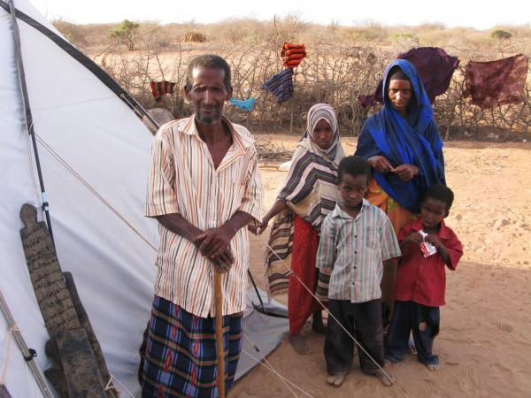 Nur Bule Ali and his  family, who fled from Mogadishu, Somalia's capital, have lived at Dadaab refugee  settlement for the past eight months and moved to this tent in the Ifo-2 camp this past week.