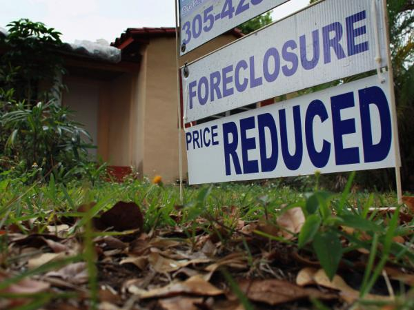 Foreclosure sales, which include homes purchased after they received a notice of default or that were repossessed by lenders, accounted for 31 percent of the market in the April-June quarter, RealtyTrac Inc. said.