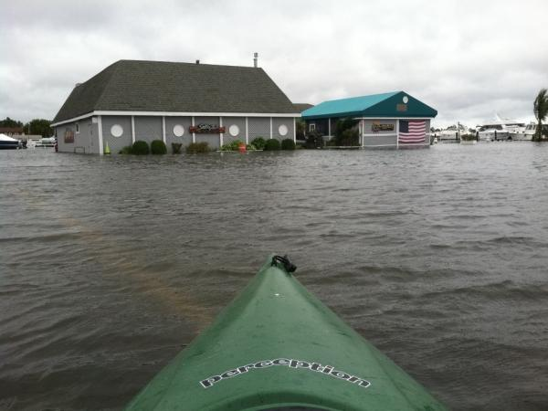 Sallee Tee's restaurant in Monmouth Beach, N.J. was flooded following Hurricane Irene.