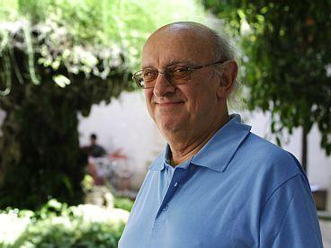 Petros Markaris (shown here in 2009) uses his detective novels, featuring Inspector Costas Haritos, to explore the social, economic and political issues of modern Greece. The Istanbul-born writer says that his detached way of observing Greece and the Greeks is a trait he shares with Haritos, his character.