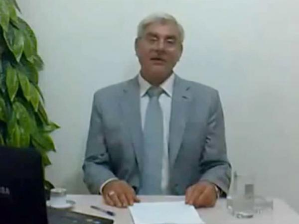 A screen grab of Syrian Attorney General, Anan Bakkor, during a video he made where he resigned from his post and revealed that he was forced to cover up deaths related to the popular uprising in the country.