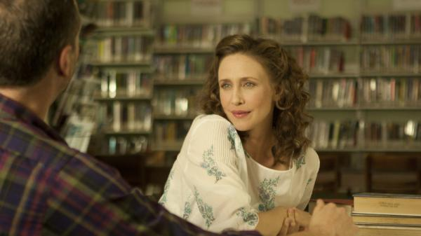 Vera Farmiga plays Corinne Walker, a woman who decides to join and then flee a fundamentalist religious group. The film, directed by Farmiga, is based on Carolyn S. Briggs' memoir <em>This Dark World</em>.