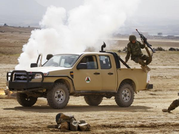 Afghan troops participate in training exercise at Camp Blackhorse in Kabul, March 10, 2010. After a decade of fitful training and billions of dollars, the Afghan security forces have an abysmal record of acting without direct NATO assistance.