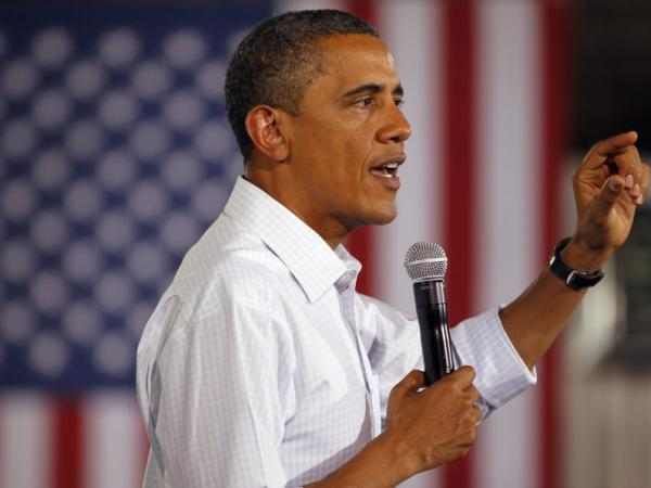 During his three-day bus tour, President Obama discussed job creation. At one town hall, he mentioned a training program in Georgia that allows companies to train prospective employees temporarily while they still receive an unemployment check.