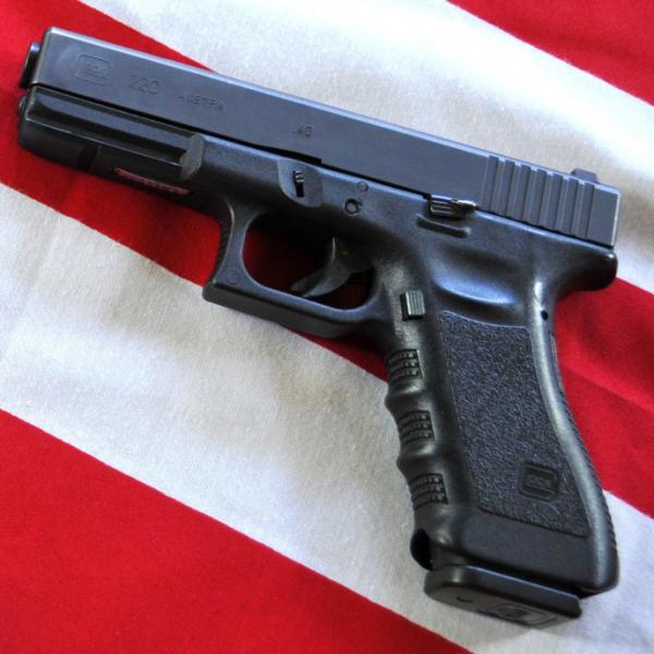 A Glock .40-caliber handgun.