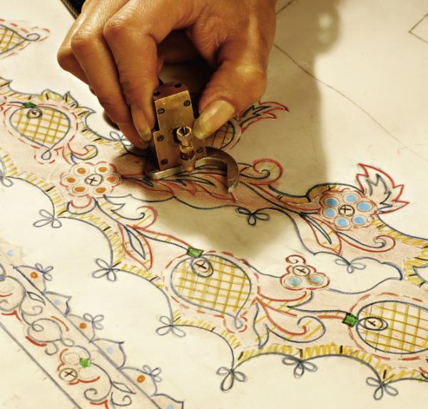 <em>P</em><em>etites mains</em> — little hands, as they are affectionately called — are behind all of the studio's creations. Designs are carefully drawn out before the sewing begins.