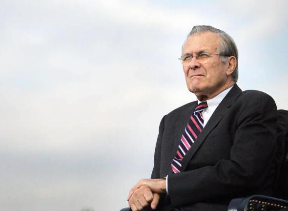 Former Secretary of Defense Donald Rumsfeld.