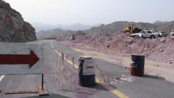 A detour along Saudi Arabia's Highway 15.