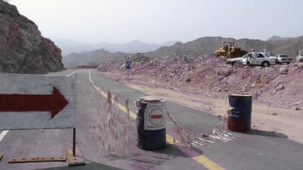 A detour along Saudi Arabia's Highway 15.