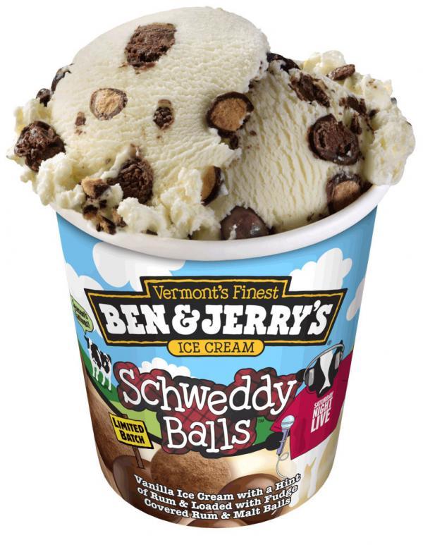 Schweddy Balls ice cream.