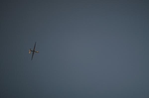 A predator drone in the Jalalabad sky.