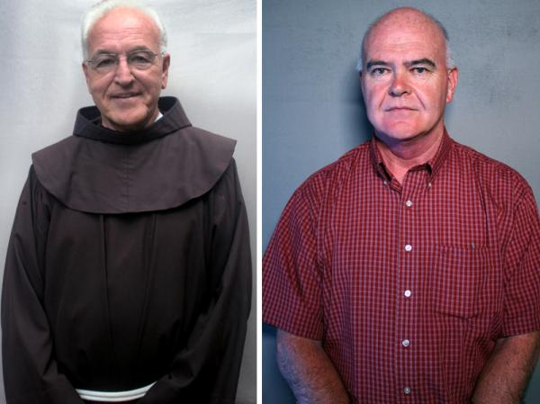 Father Michael Duffy (left) and Bill Cosgrove spoke about their memories of Father Mychal Judge.