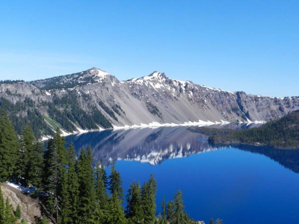 Crater Lake National Park in southern Oregon.