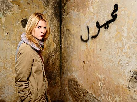 Claire Danes plays a CIA agent who suspected a heroic American POW is actually a double agent for Al-Qaida in Showtime's <em>Homeland.</em>