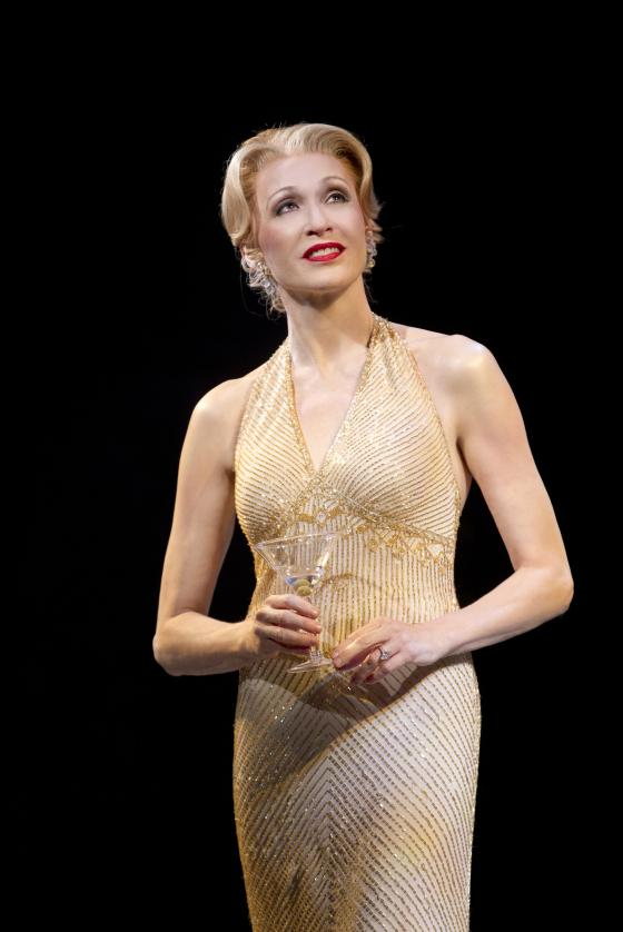 <strong>Dressy <em>and</em> juicy:</strong> Jan Maxwell plays socialite and former showgirl Phyllis Rogers Stone, one of four deeply unhappy characters at the show's center.