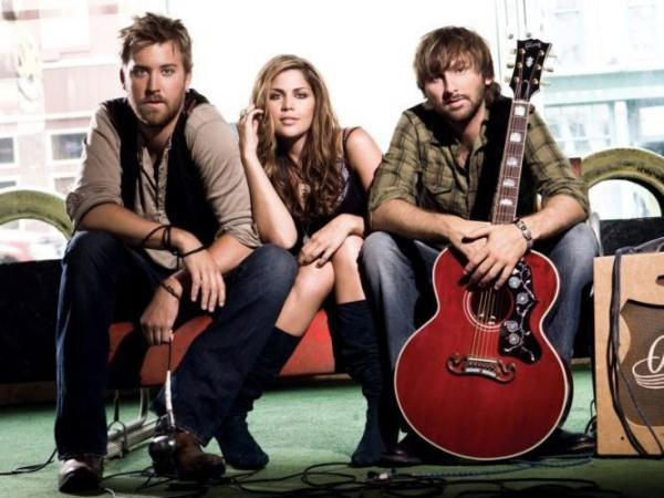 Lady Antebellum's new album is titled <em>Own the Night</em>. Left to right: Charles Kelley, Hilary Scott, Dave Haywood.