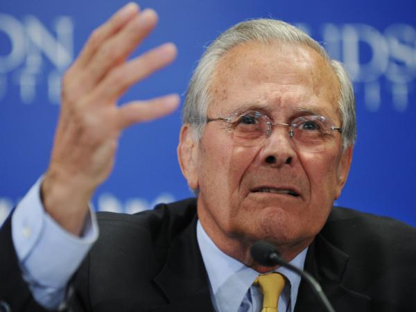 Former Defense Secretary Donald Rumsfeld, in March 2011.