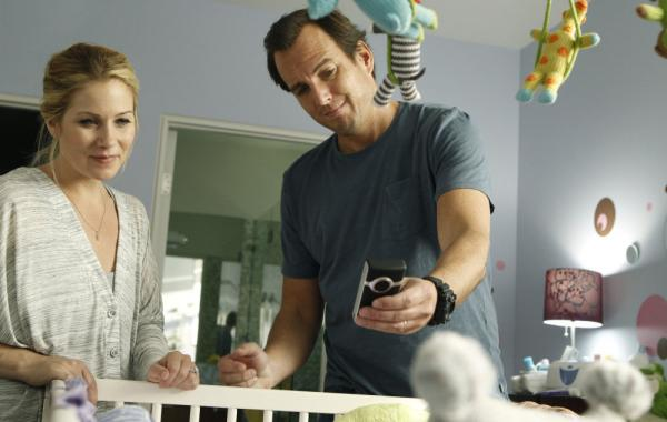 "Will Arnett and Christina Applegate play nervous new parents in the NBC sitcom<em> Up All Night. </em><em></em>""It was the first time that I really identified with a character,"" says Arnett, who has two young kids.<em></em>"