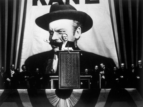 Orson Welles takes the lead role in his film <em>Citizen Kane</em>, which has been released in a special 70th Anniversary Edition.