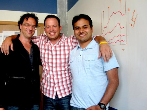 Craig Guenther-Lee (from left), Chad Reed and Naresh Dhiman co-founded Bluebox Now, a startup that links business' data about customers with information they posted online.