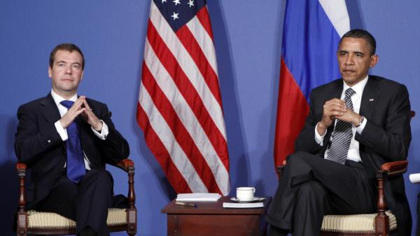"President Obama meets with Russian  President Dmitry Medvedev on the sidelines of the G8 summit in Deauville, France, on May 26. Obama's ""reset"" policy with Russia led to improved relations, but the countries are now facing some difficult issues."