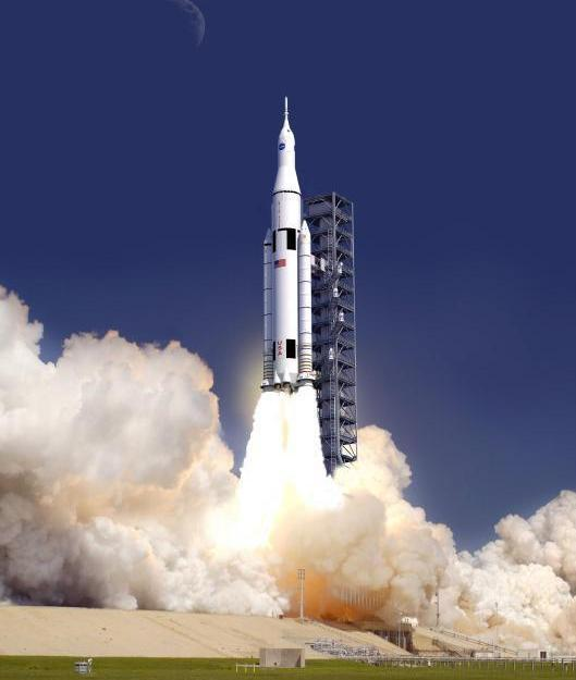 Artist concept of SLS launching.
