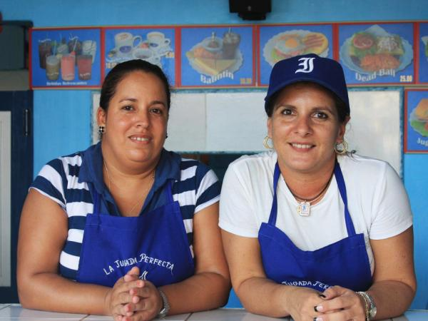 "The Perfect Play, a baseball-themed snack bar, is quickly becoming famous  among fans of Havana's beloved team, the Industriales. On the menu: coffee, milkshakes and sandwiches such as ""The Deadball"" (tuna)."