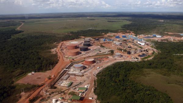 A view of the Campo Rubiales oil field camp in eastern Colombia, in April 2010. Colombia's oil production has doubled since 2005 with the help of oil workers who were fired nearly a decade ago by Venezuela's President Hugo Chavez.